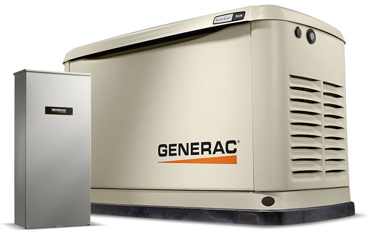 2019 Generac Guardian 9kW Home Backup Generator with 16-circuit Transfer Switch WiFi-Enabled in Jacksonville, Florida