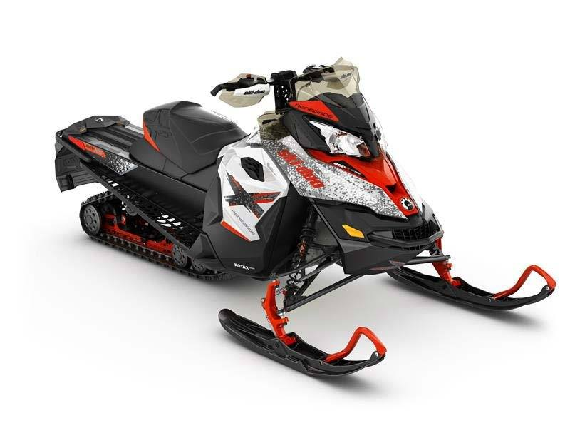 2016 Ski-Doo Renegade X E-TEC 800R White / Lava Red in Baldwin, Michigan