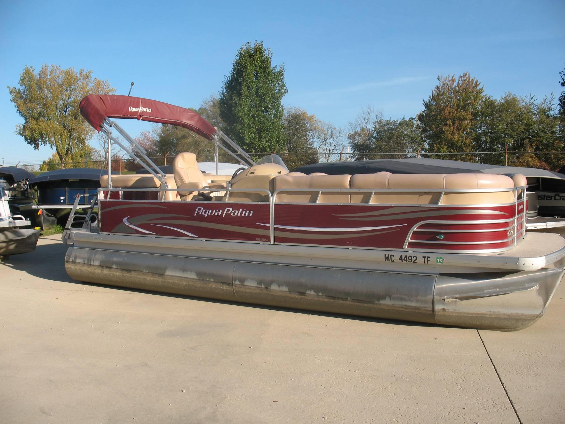 2009 Aqua Patio 220 BC Power Boats Outboard Manitou Beach Michigan N A