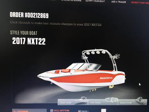 2017 Mastercraft NXT 22 in Manitou Beach, Michigan