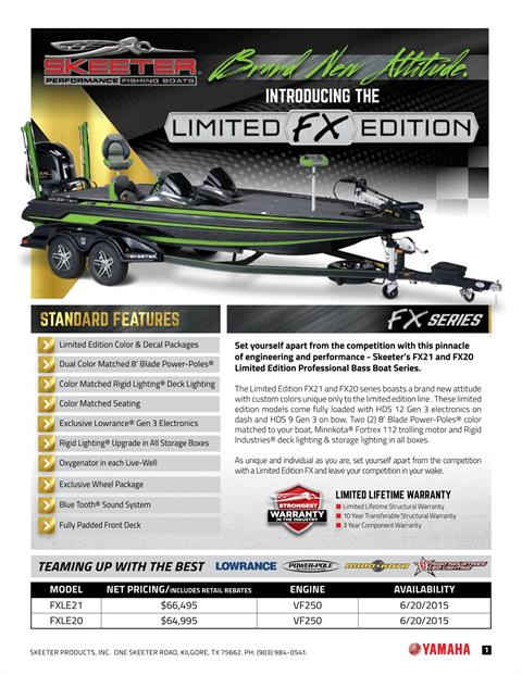 2016 Skeeter FX 20 Limited Edition in Bryant, Arkansas