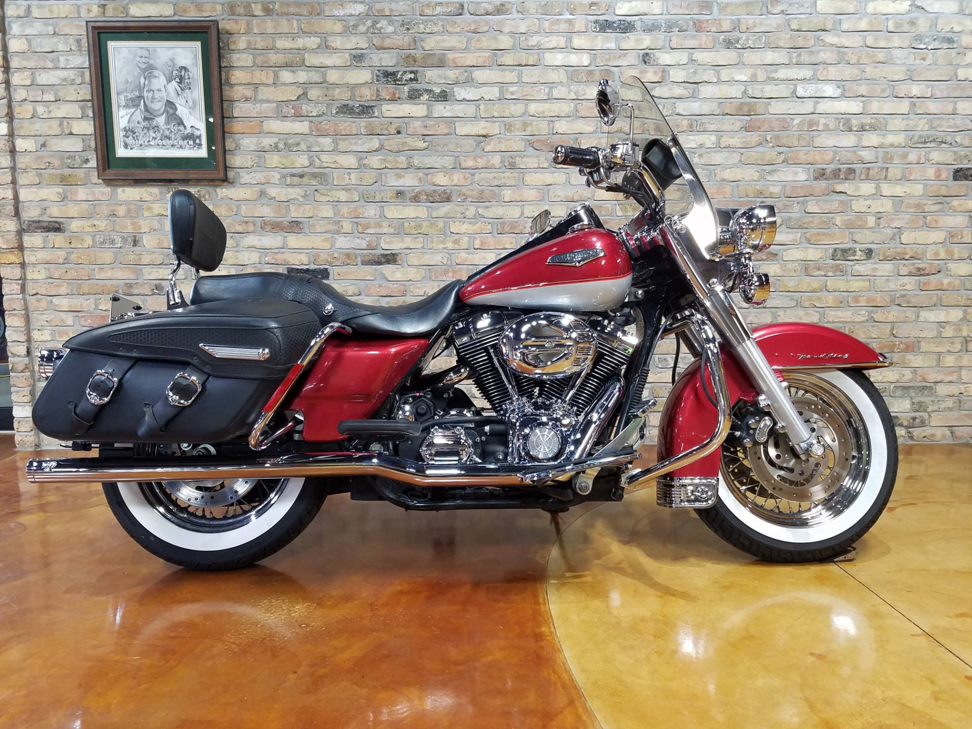 Used 2005 Harley Davidson Flhrci Road King Classic Motorcycles In Big Bend Wi 4322 Two Tone Sierra Red Pearl Brilliant Silver Pearl