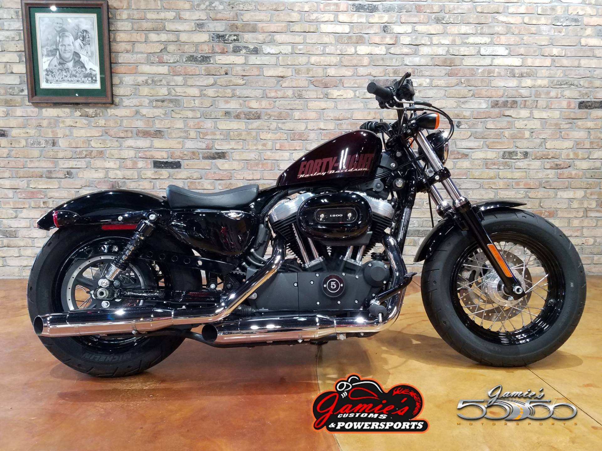 Used 2014 Harley Davidson Sportster Forty Eight Motorcycles In Big Bend Wi 4254j Blackened Cayenne Sunglo