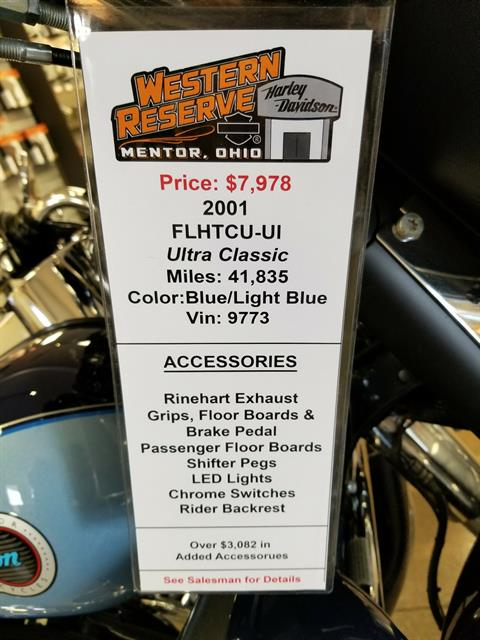 2001 Harley-Davidson FLHTCUI Ultra Classic® Electra Glide® in Mentor, Ohio