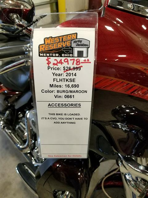 2014 Harley-Davidson CVO™ Limited in Mentor, Ohio