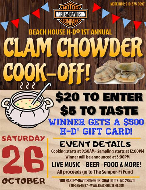 1st Annual Clam Chowder Cook-Off