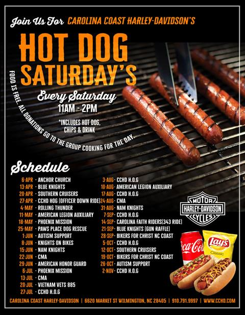 Hot Dog Saturdays