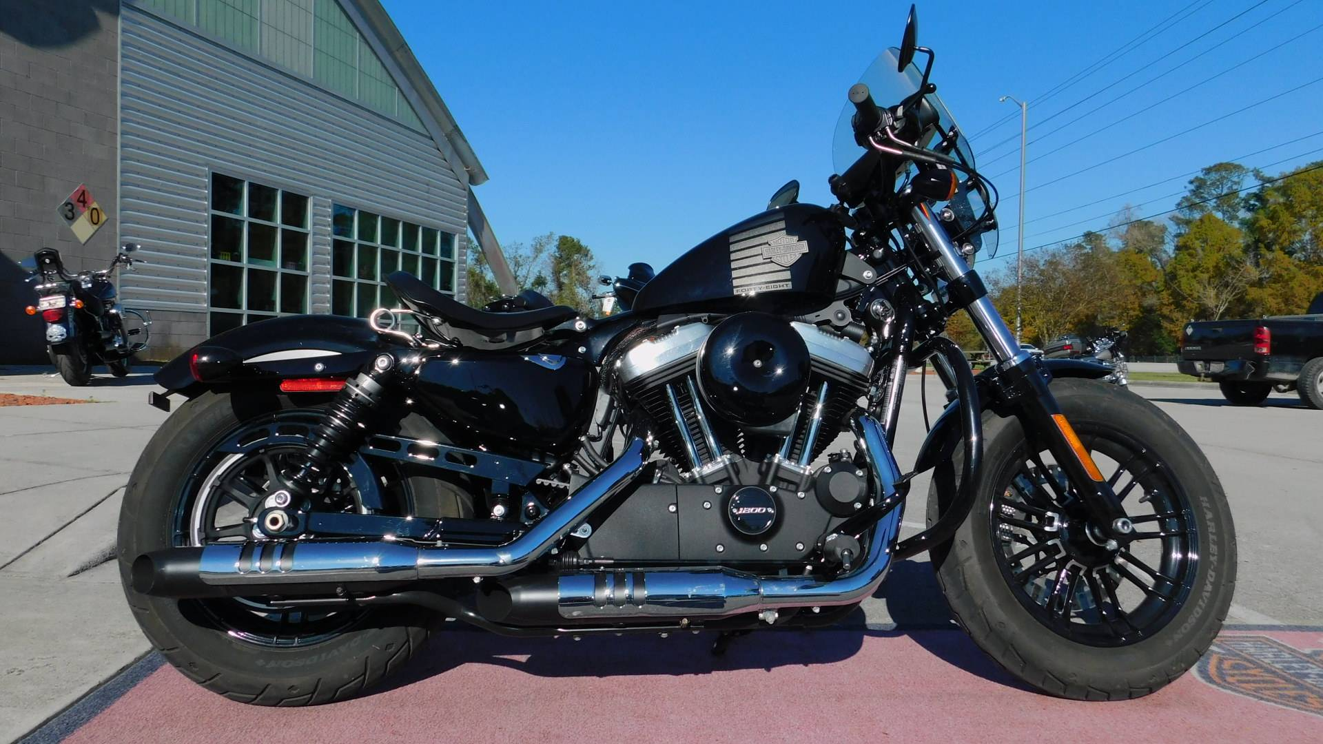 Used 2016 Harley Davidson Sportster Forty Eight Motorcycles In Jacksonville Nc Nrhd5802 Black