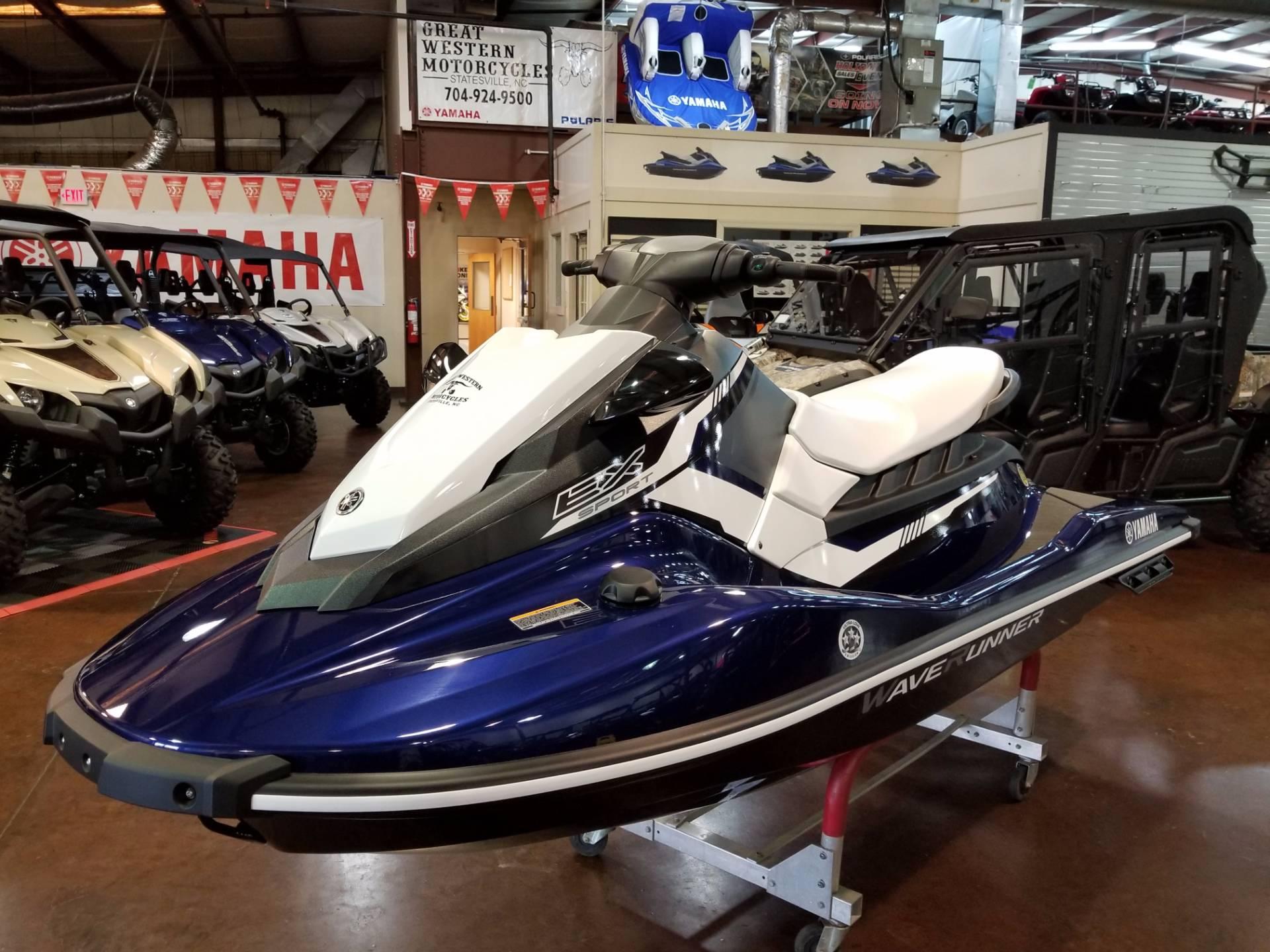 New 2018 yamaha ex sport watercraft in statesville nc for Yamaha ex waverunner