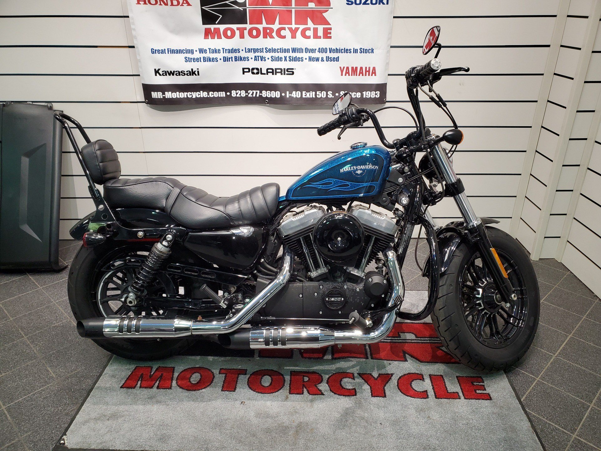 Used 2016 Harley Davidson Forty Eight Motorcycles In Asheville Nc Hard Candy Cancun Blue Flake 448188