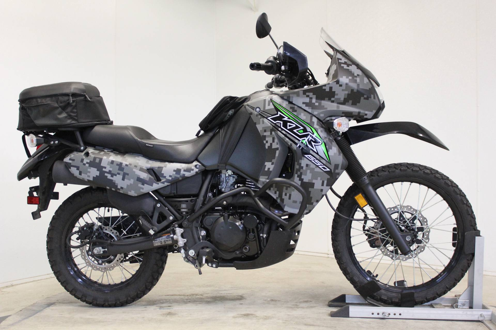 2018 Kawasaki KLR 650 Camo in Pittsfield, Massachusetts - Photo 1