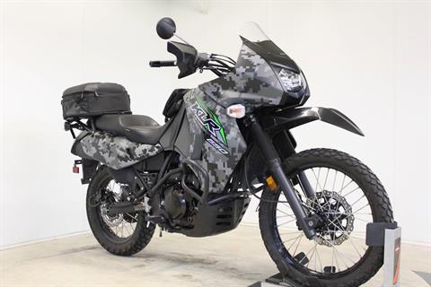 2018 Kawasaki KLR 650 Camo in Pittsfield, Massachusetts - Photo 2
