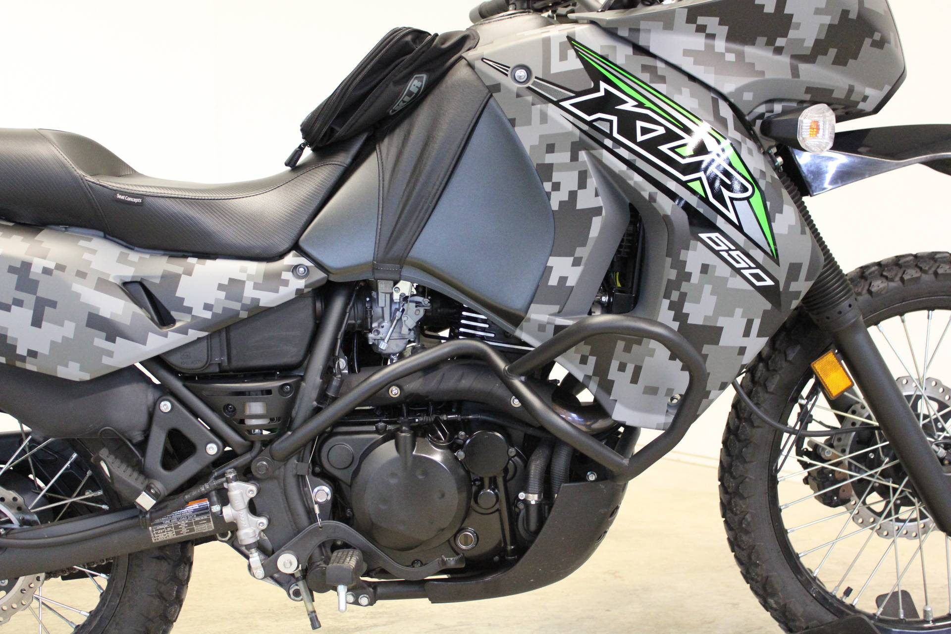 2018 Kawasaki KLR 650 Camo in Pittsfield, Massachusetts - Photo 9