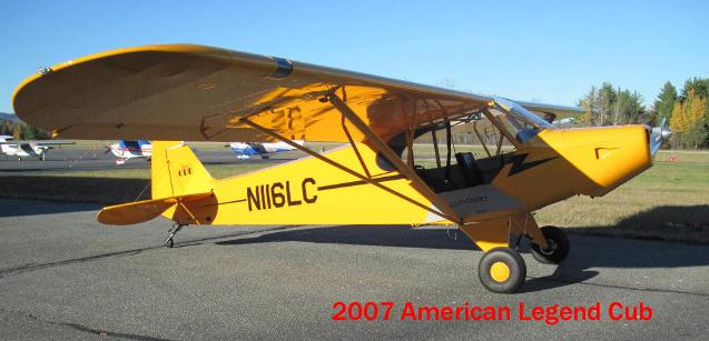 2007 American Legend Aircraft CUB in Pittsfield, Massachusetts