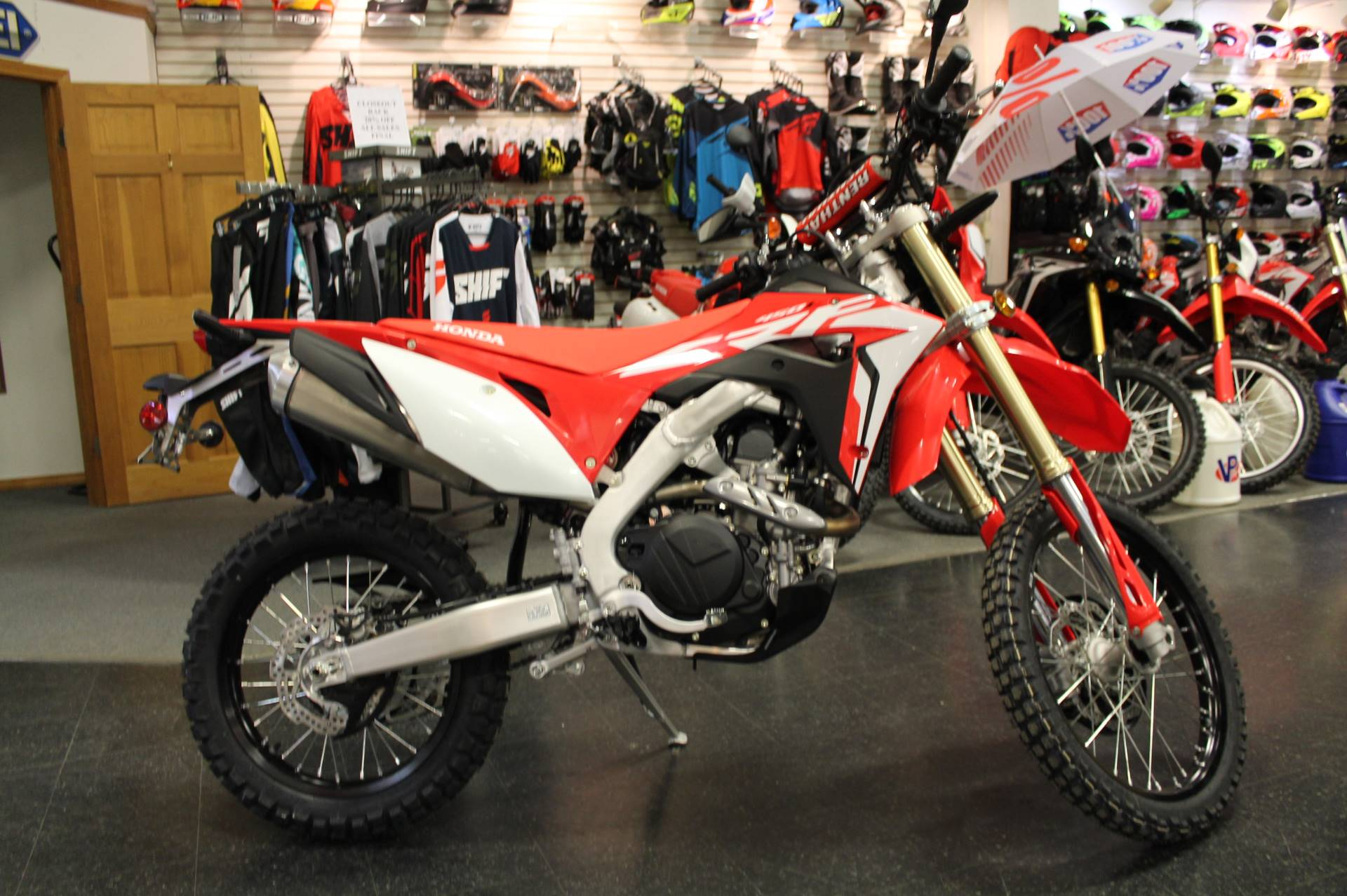 New 2019 Honda Crf450l Motorcycles In Adams Ma Stock Number 002380