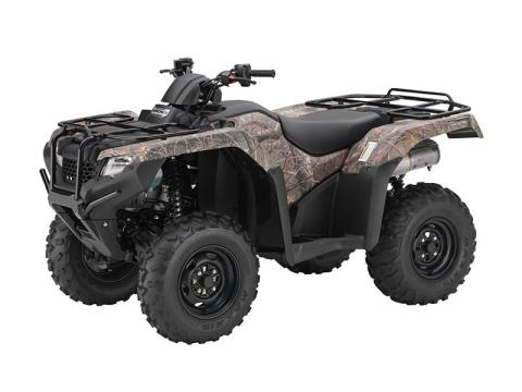 2016 Honda FourTrax Rancher 4x4 DCT IRS EPS Camo (TRX420FA6) in North Mankato, Minnesota