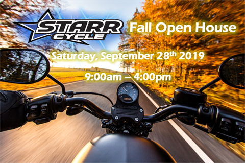 Starr Cycle's FIRST Fall Open House