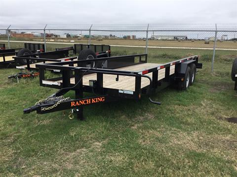 "2017 Ranch King 20X6 10"" Tandem Axle W/Brakes 14000 # in El Campo, Texas"