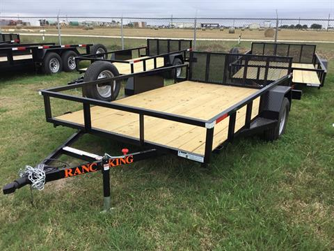 "2018 Ranch King 12"" X 6'10"" Single w/Drop Gate in El Campo, Texas"