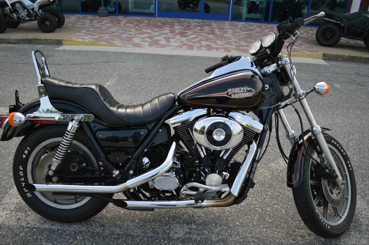 Harley Davidson Stock: Used 1993 Harley-Davidson FXRS-SP Motorcycles In Derry, NH