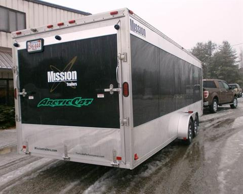 2011 Mission Trailers MES 7 x 24 (CA) - [mes7x24] - Black in Barrington, New Hampshire