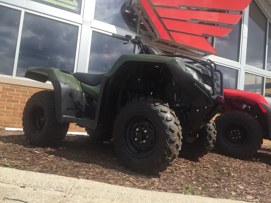 2017 Honda FourTrax Rancher 4x4 DCT IRS Olive (TRX420FA5) in Lapeer, Michigan