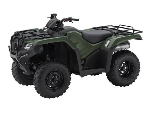 2016 Honda FourTrax Rancher Olive (TRX420TM1G) in Lapeer, Michigan