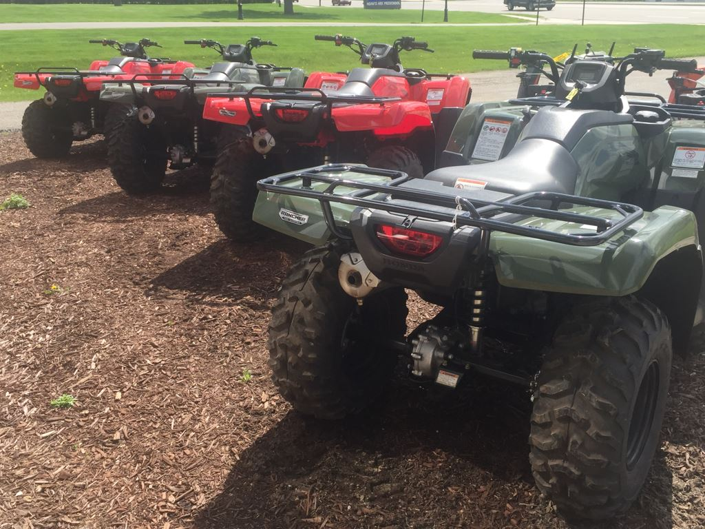 2017 Honda FourTrax Rancher 4x4 ES Olive (TRX420FE1) in Lapeer, Michigan