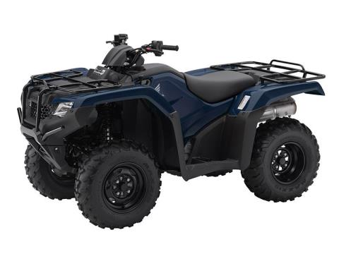 2016 Honda FourTrax Rancher 4x4 DCT Blue (TRX420FA1) in Lapeer, Michigan