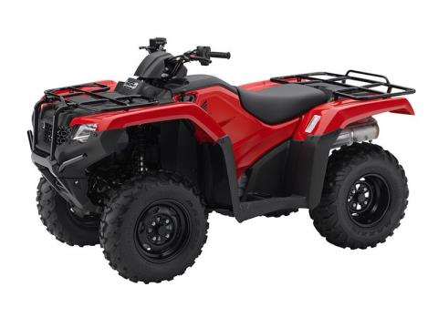 2016 Honda FourTrax Rancher 4x4 ES Red (TRX420FE1) in Lapeer, Michigan