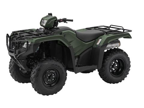 2016 Honda FourTrax Foreman 4x4 Olive (TRX500FM1) in Lapeer, Michigan
