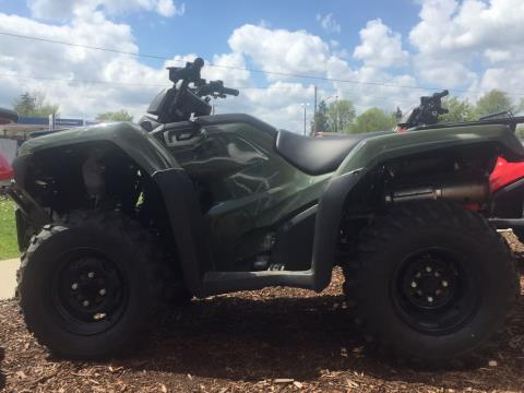 2017 Honda FourTrax Rancher 4x4 Olive (TRX420FM1) in Lapeer, Michigan