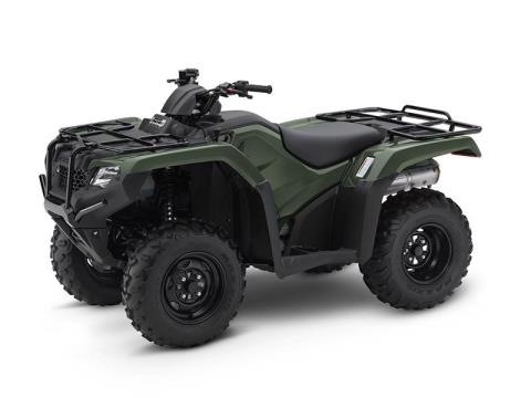 2017 Honda FourTrax Rancher 4x4 Olive (TRX420FM1) in Lapeer, Michigan - Photo 2