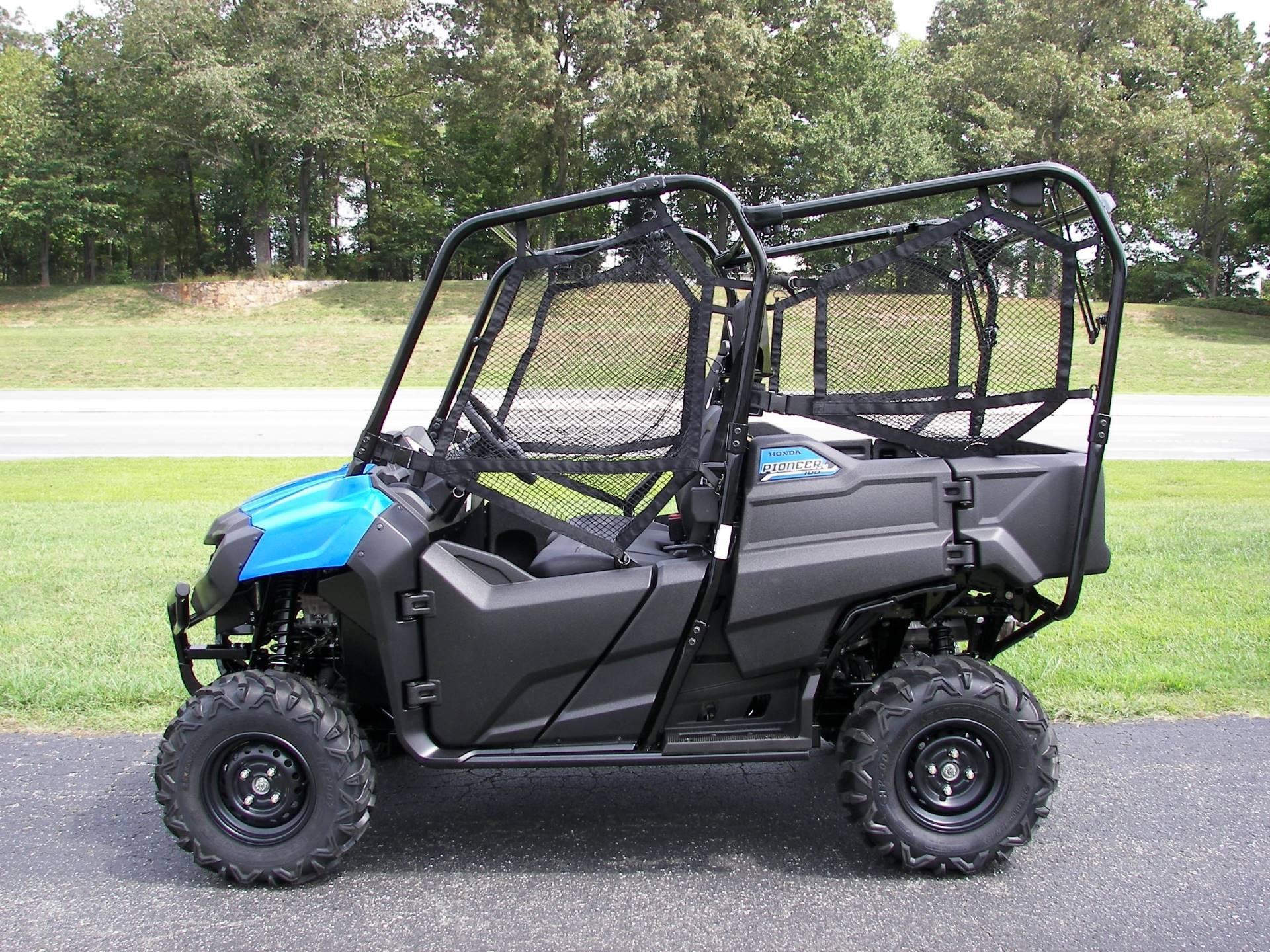 new 2016 honda pioneer 700 4 metallic blue sxs700m4 utility vehicles in lapeer mi. Black Bedroom Furniture Sets. Home Design Ideas