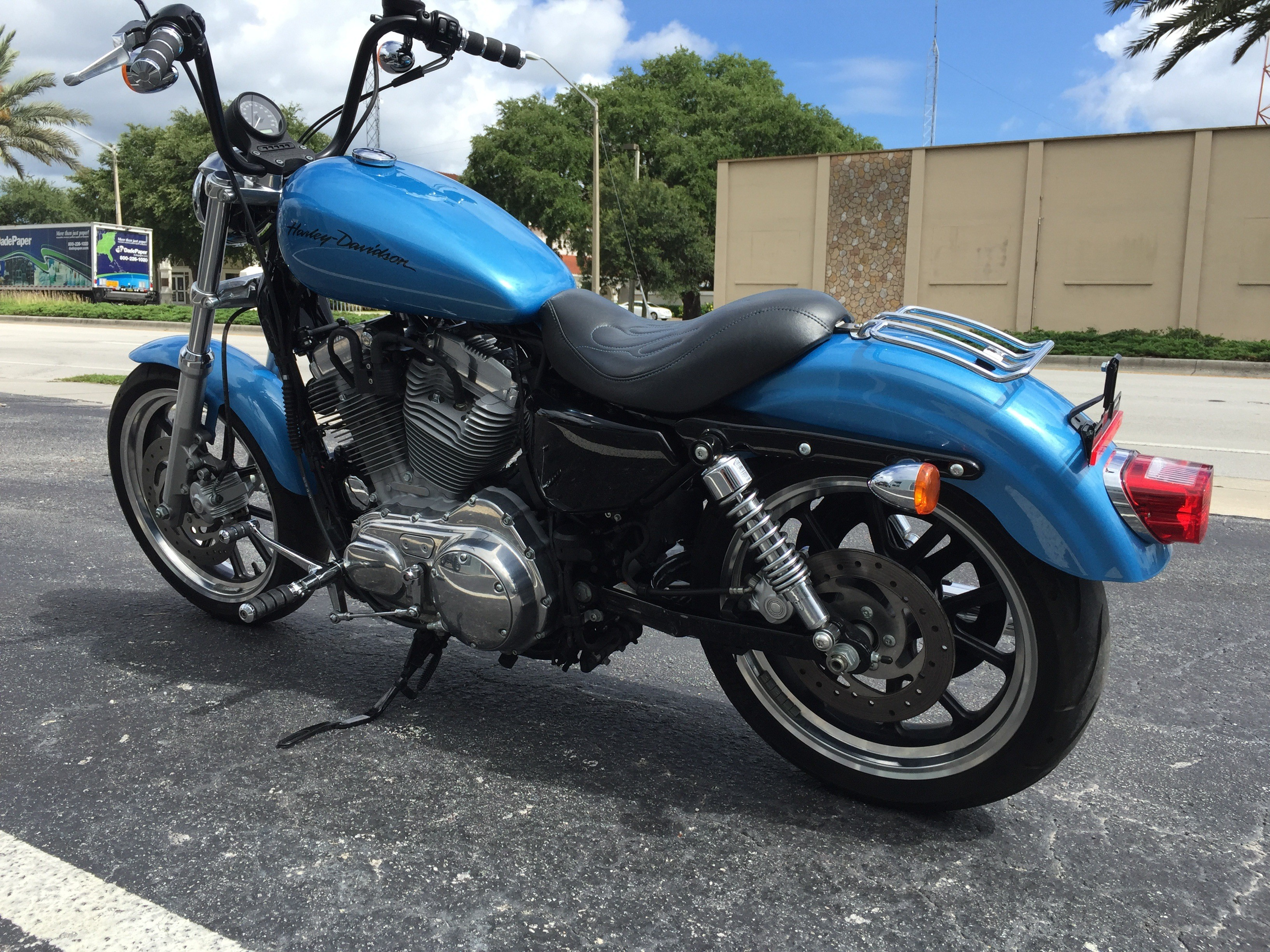 Used 2011 Harley Davidson Sportster 883 Superlow Motorcycles In Cocoa Fl Cool Blue Pearl N A