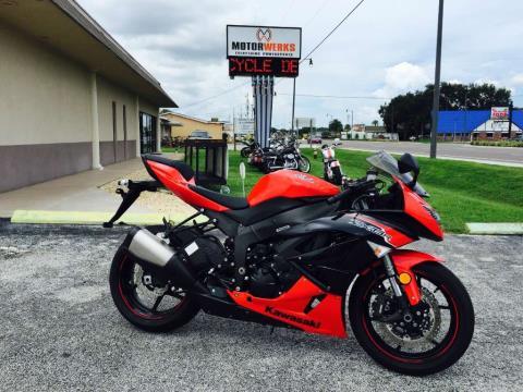 2012 Kawasaki Ninja® ZX™-6R in Cocoa, Florida