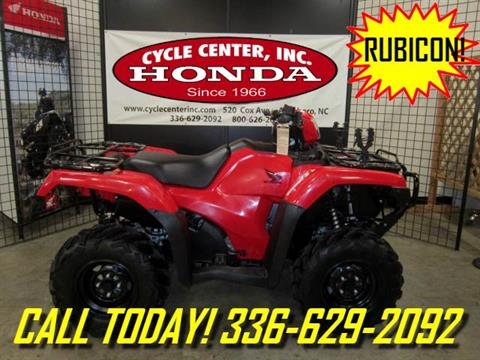 2016 Honda FourTrax Foreman Rubicon 4x4 in Asheboro, North Carolina