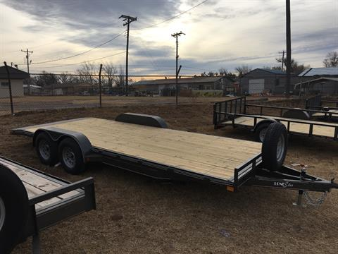 2018 Lone Star Trailer MFG 20X83 Car Hauler 2' Dove Tail in Seiling, Oklahoma