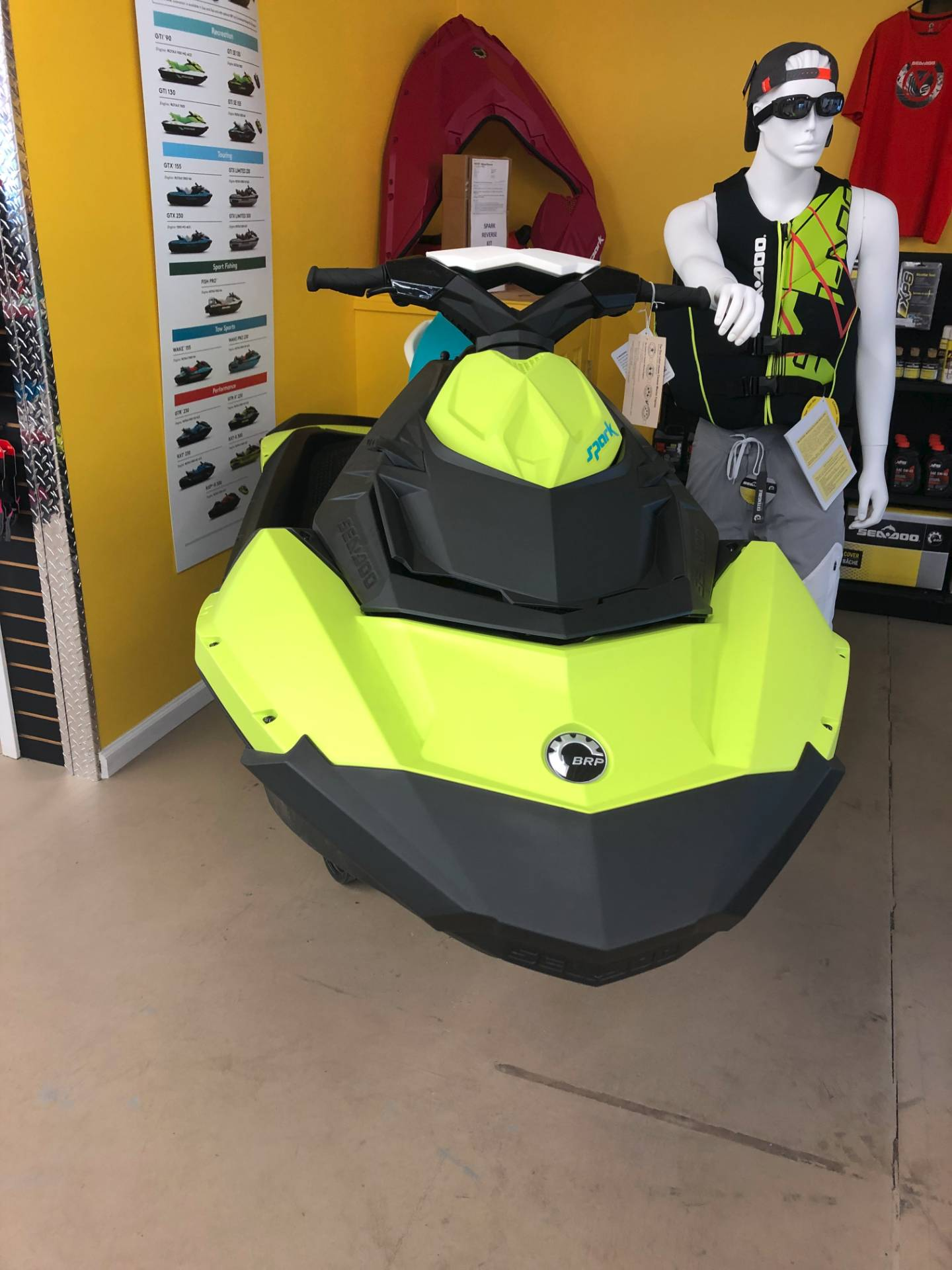 2019 SEA DOO 62KA00 PW SPARK 3 UP 900HO NY/RB19 in Harrisburg, Illinois - Photo 1