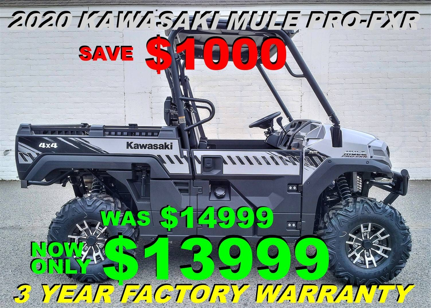 2020 Kawasaki Mule PRO-FXR in Salinas, California - Photo 1
