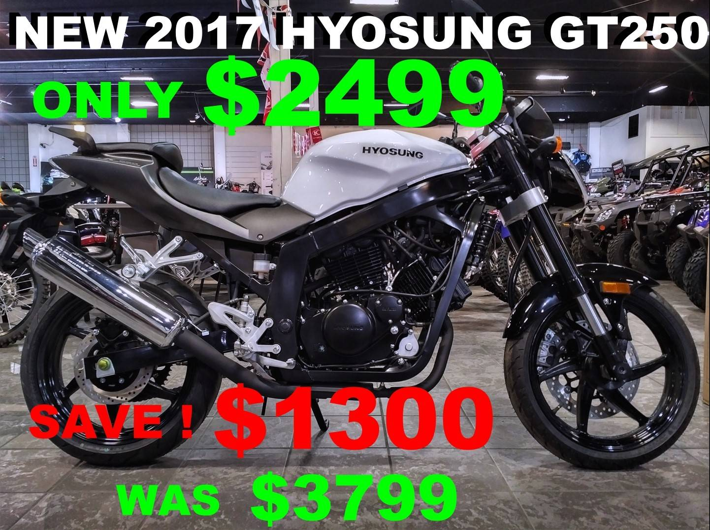 2017 Hyosung GT250 in Salinas, California - Photo 1