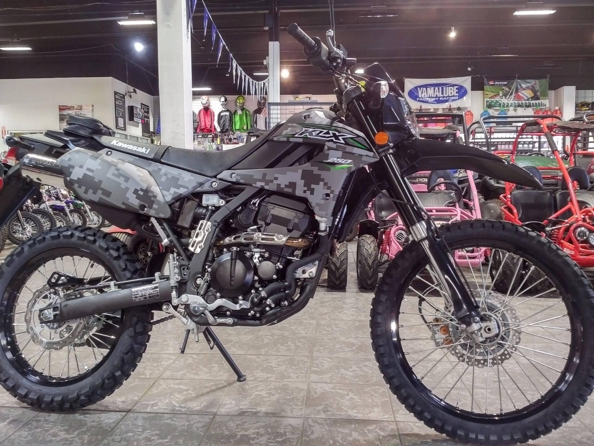 New 2018 Kawasaki KLX 250 Camo powersports in Salinas, CA | Stock ...