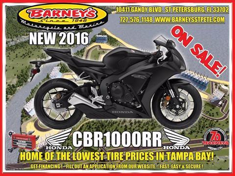 2016 Honda CBR1000RR in Saint Petersburg, Florida