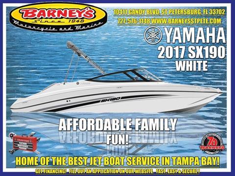 2017 Yamaha SX190 in Saint Petersburg, Florida