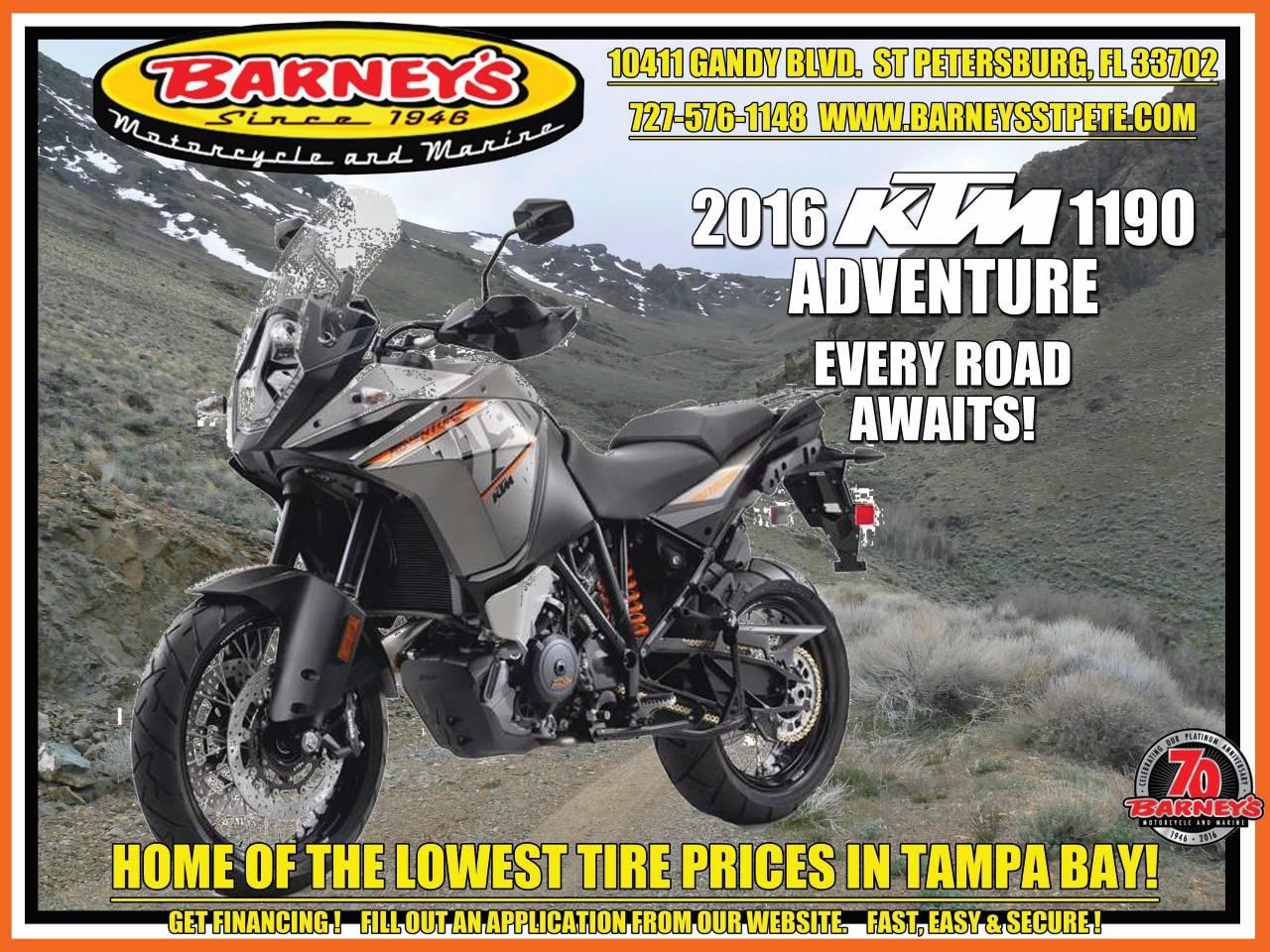 2016 KTM 1190 Adventure in Saint Petersburg, Florida