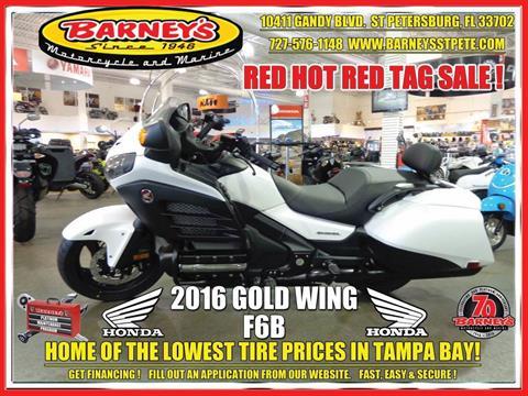 2016 Honda Gold Wing F6B Deluxe in Saint Petersburg, Florida