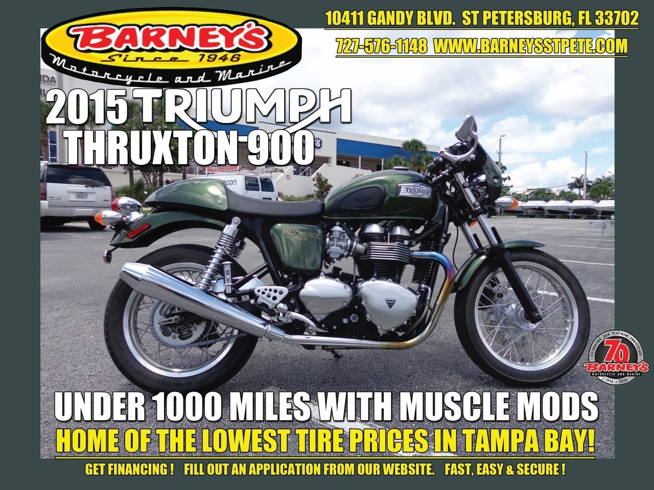 2015 Triumph Thruxton in Saint Petersburg, Florida