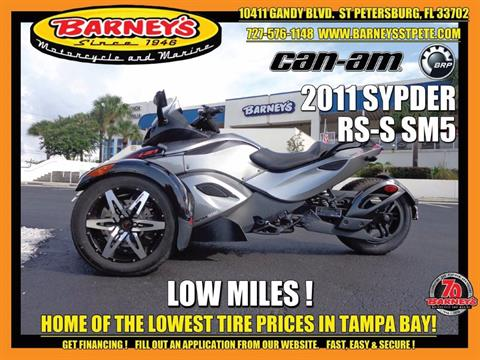 2011 Can-Am Spyder® RS-S SM5 in Saint Petersburg, Florida