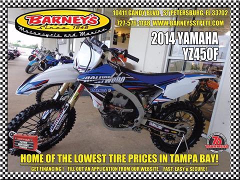 2014 Yamaha YZ450F in Saint Petersburg, Florida