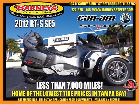 2012 Can-Am Spyder® RT-S SE5 in Saint Petersburg, Florida